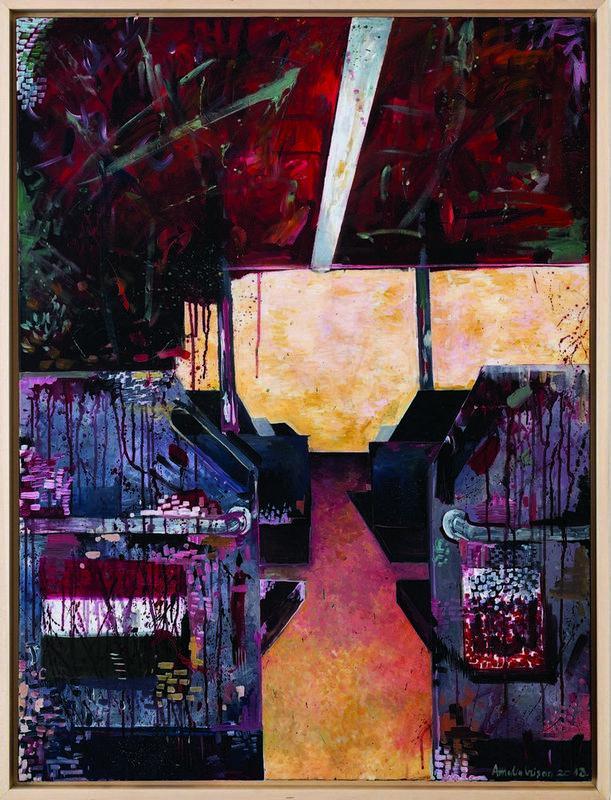 Amalia Crişan, Actionism_intr-un_tramvai_din_budapesta, Painting