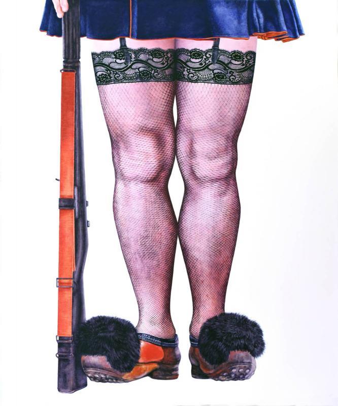 Anna Mihailidu,Politiki, Oil On Canvas, 100x120cm