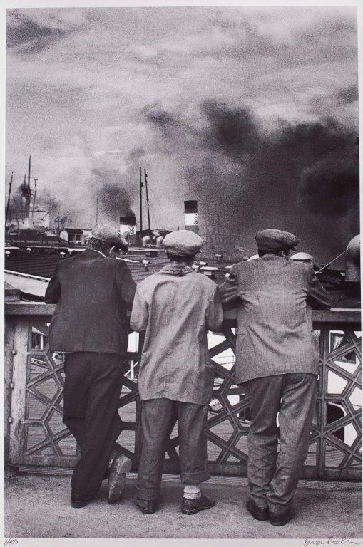 Ara Güler, Galata Bridge, Photograph, Print, 55x45 cm