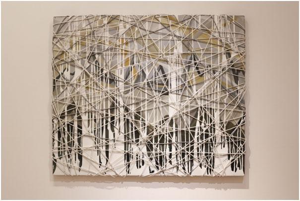 CHRISTOS EFSTATHIOU, OPUS, 2014, MIXED TECHNIQUE, OIL, ACRYLIC ON CANVAS, SILIKONE, CABLES, 100x120 cm