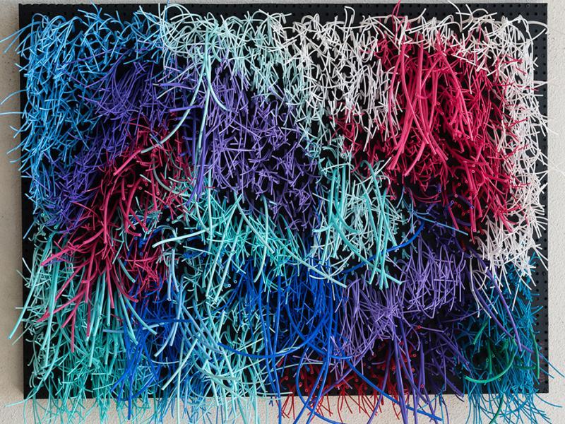 Cléo ROBINE ''Prendre l'Eau 9'' (80x60)cm,  PVC threads