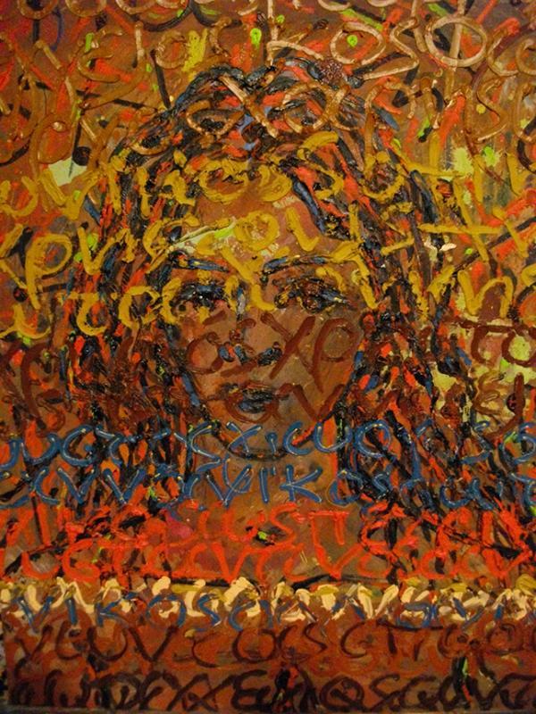 Costas EVANGELATOS ''Nomengraphical Portrait'' (50x60)cm, Oil on masonite, 2008
