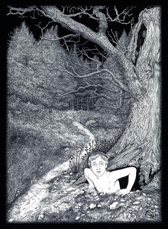 Dimitris Anastasiou, A=A, 2015, ink on paper, 45 x 31 cm