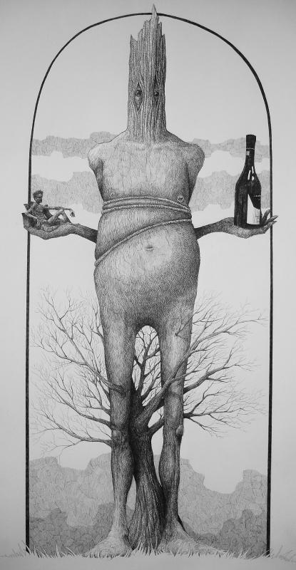 Dimitris Karlaftopoulos, ink of paper, 2016, 132 x 75 cm