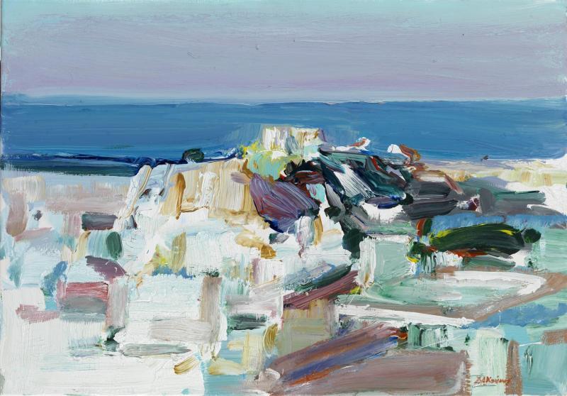 Dimitris Koukos, Athens, 70 x 100 cm, Acrylic on canvas, 2019