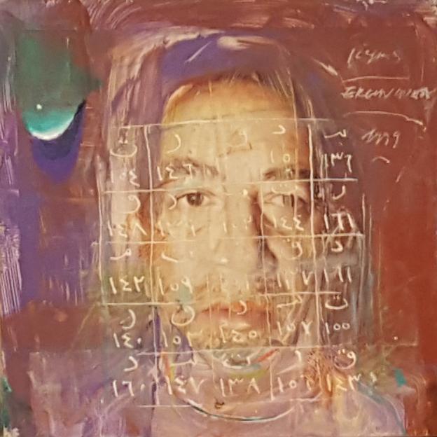 Ergin İnan, Portrait, mixed technic, 13x11 cm