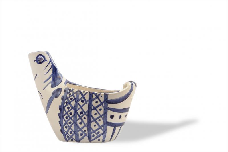 ΕΞΩΦΥΛΛΟ,   HEN (Sujet poule) 1954, ceramic vessel