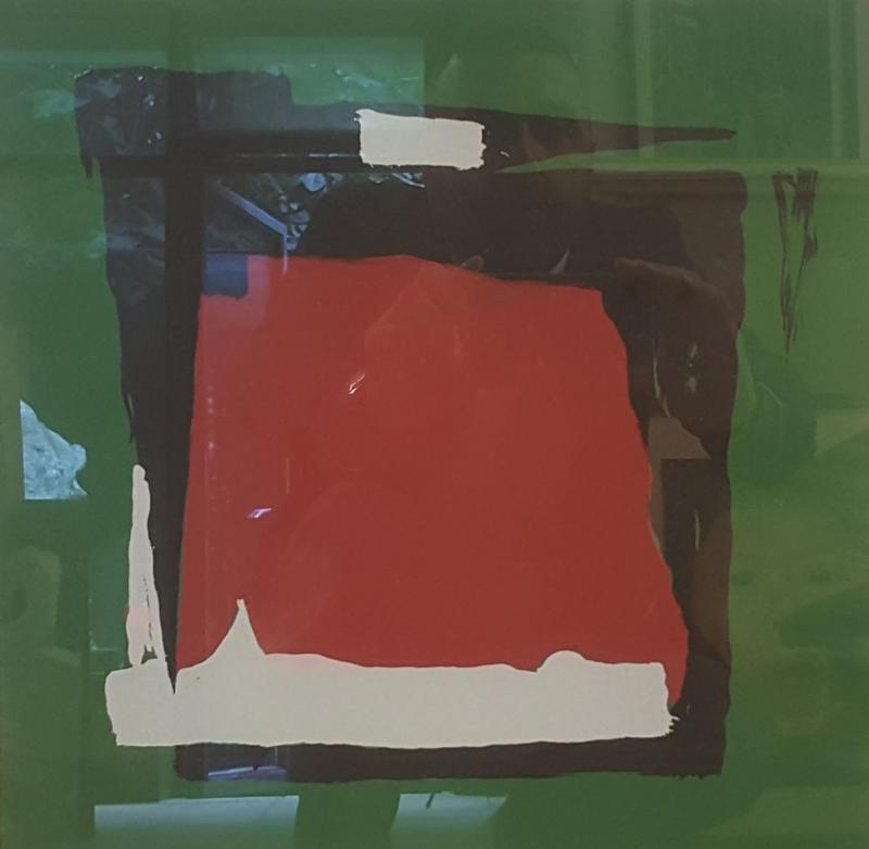 Ferruh Başağa, Abstract, mixed technic on the paper, 32x32 cm