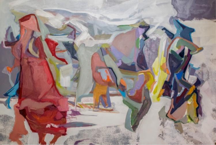Feza Güvenal, untitled, 2018, oil on canvas, 114x162cm