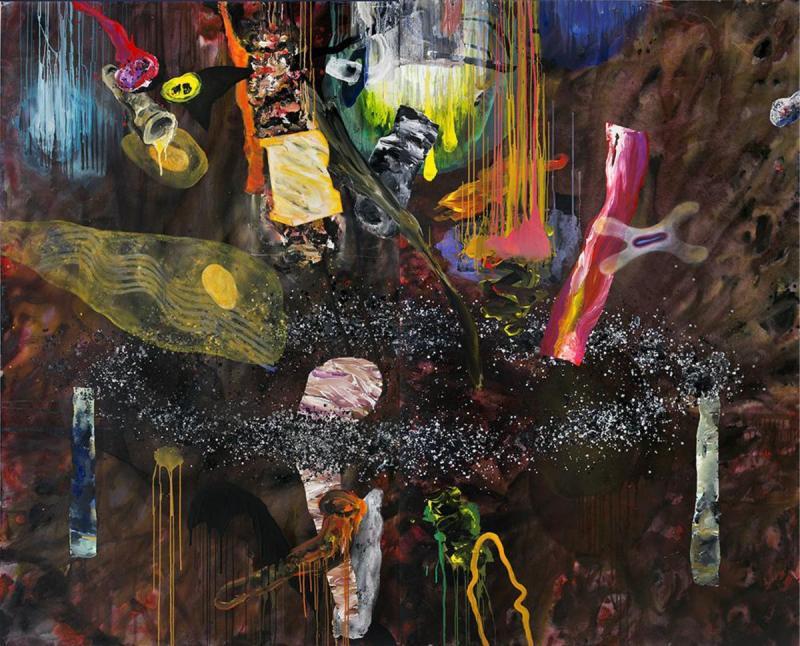 Fokas Yiannis, untitled, 2013, acrylic-mixed media on canvas, 250x300cm