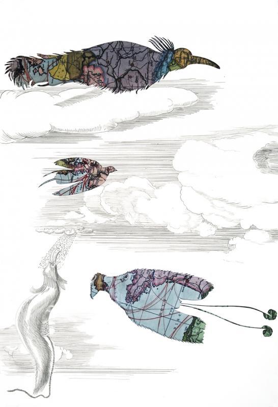 Gabriele Sturm the mismeasure of paradise 2009 - ink paper map 5 x 41 cm - Αντίγραφο