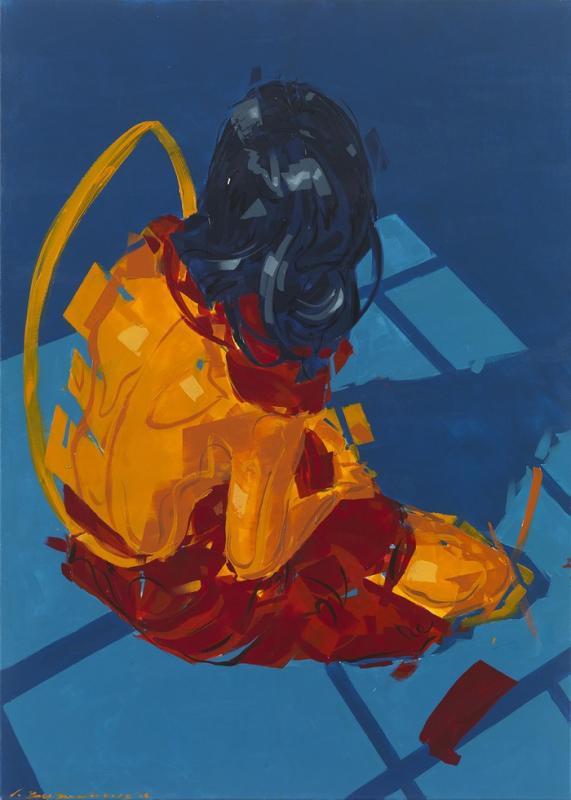 Giannis Valyrakis, Square Spaces, acrylic on canvas, 100 x 140 cm