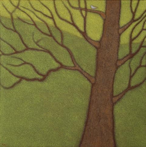 Guido Morelli - Il richiamo, olio su tela cm. 80x80, 2015