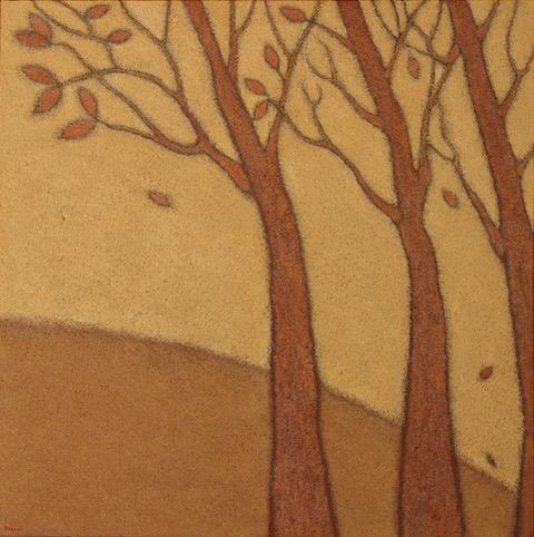 Guido Morelli - Il vento della memoria, olio su tela cm. 80x80, 2015