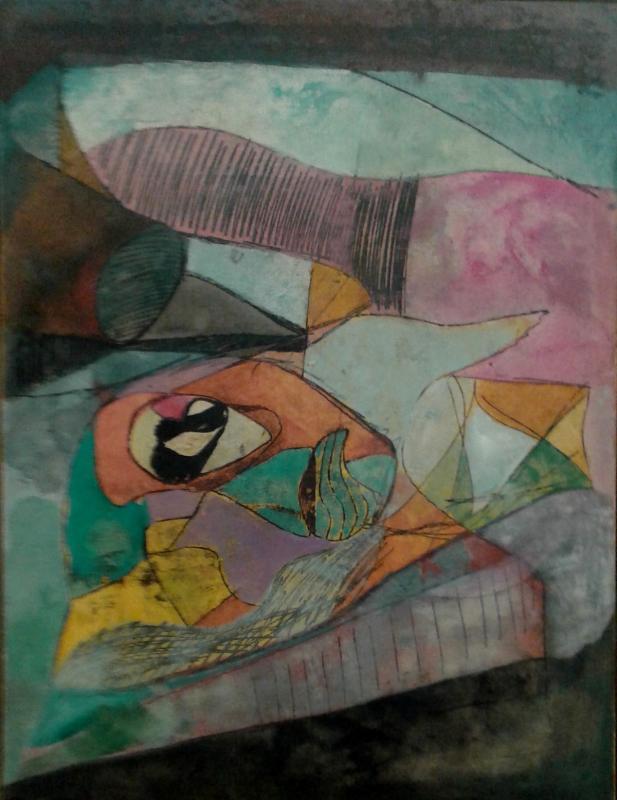 Hubert Berke, acrylic on canvas,  untitled,  65x50 cm,  1946