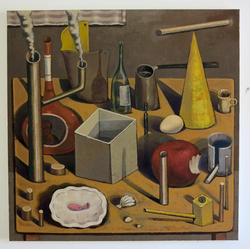 Kostis Damoulakis, Still life, oil on canvas, 100x100 cm