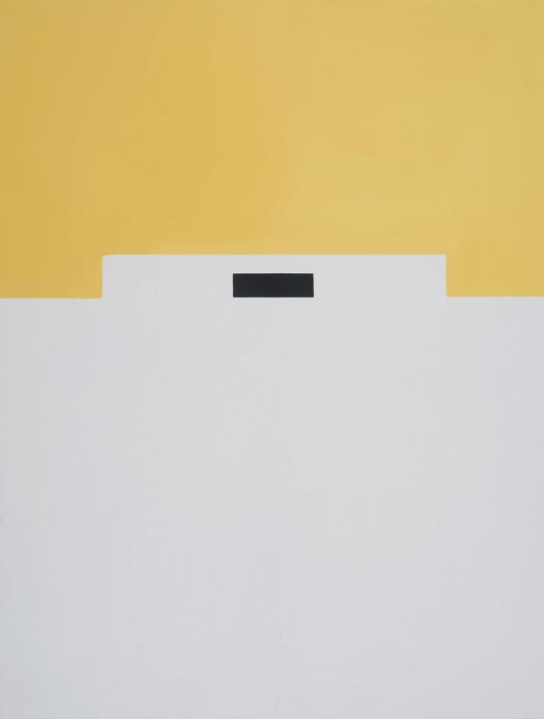 Lassithiotakis,The black line, 2017, emulsion and oil on canvas, 160x120 cm