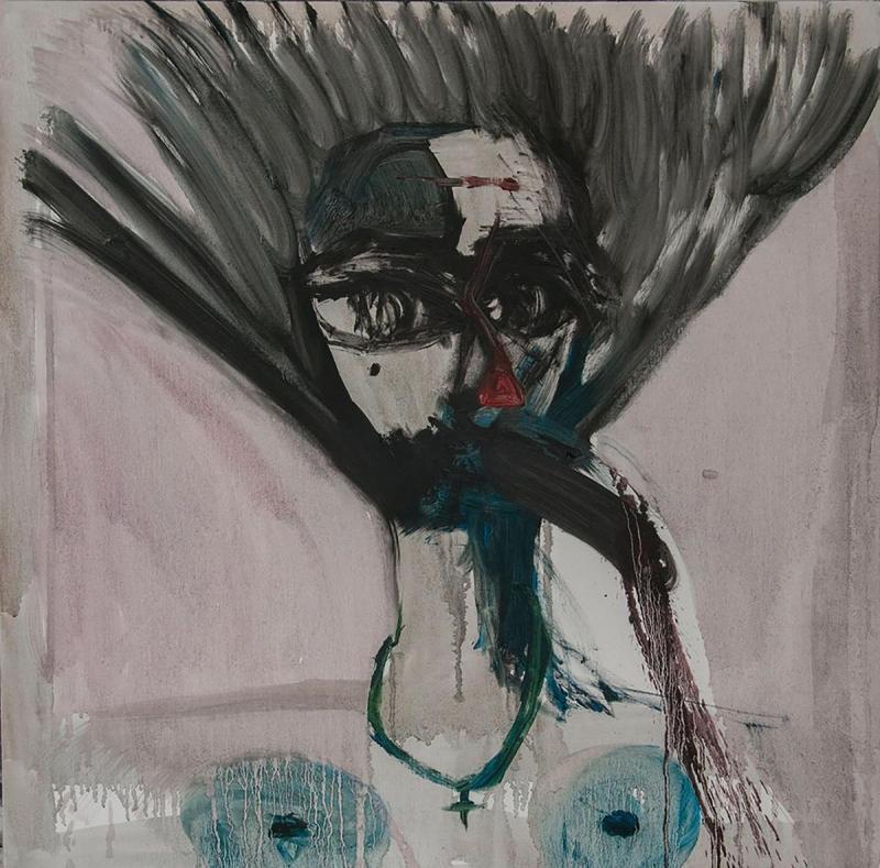 Liana Ghukasyan Portrait Oil On Canvas 80 X 80