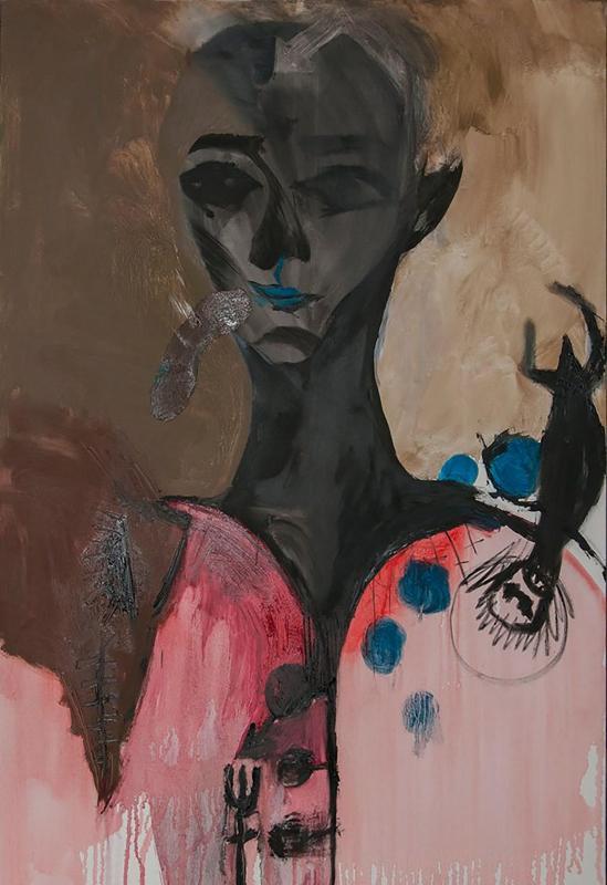Liana Ghukasyan Weary Oil On Canvas 120 X 80