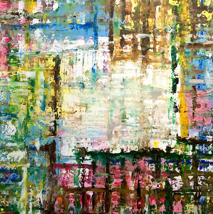 Milena DIMITROKALIS ''Developing a Mature Ego''  (100x100)cm, Acrylic on canvas, 2016
