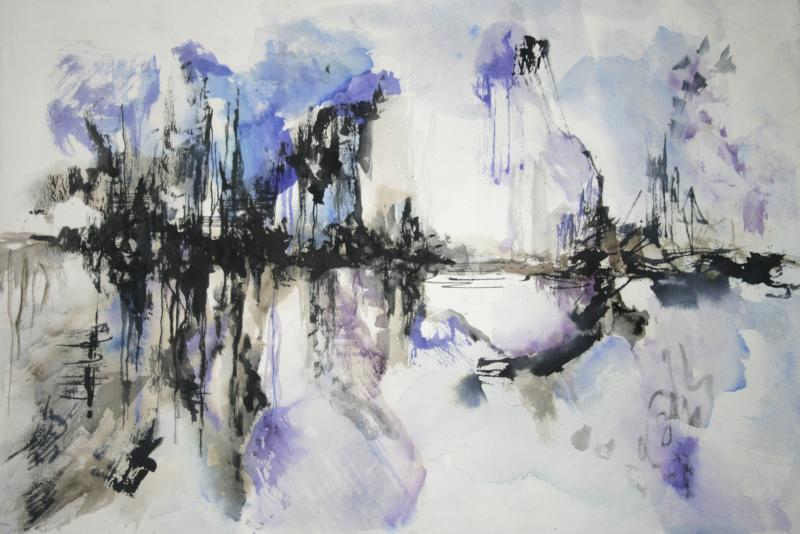 Morfogeni Lena_Bridges_2017_80x60cm._Watercolor on paper