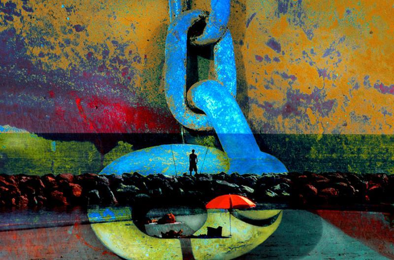 Nicole LEJEUNE ''La Chaine Bleue'' (60x40)cm, ed.1/10 Subligraphy on aluminium