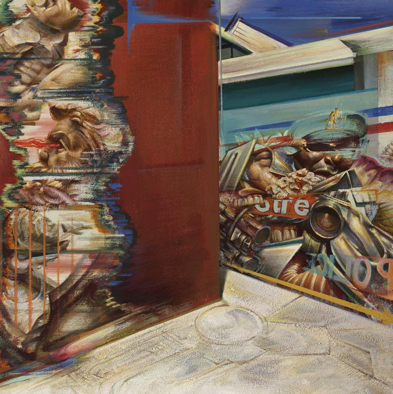 Nikos Moschos, Hide n seek, 2015, Acrylic on wood