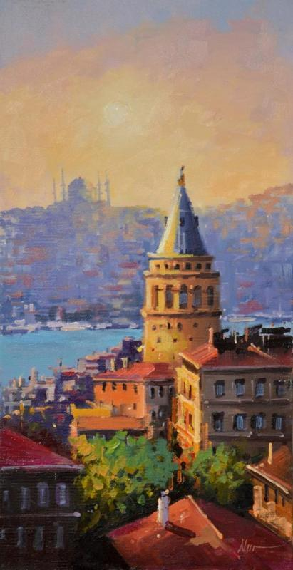 Nur Ulubil 1,Untitled,Oil canvas,Boyut  35x 55 cm