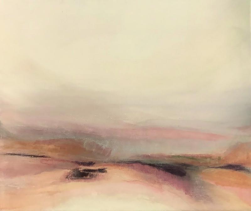 Paula Kouwenhoven, Vlak Land II, 2017, acryl and pigment on canvas, 60 x 50 cm