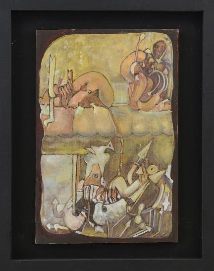 Petros Papavasiliou, Shalom, 1983, oil on canvas, 60x40cm