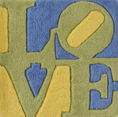Robert Indiana, Spring love, 2006, carpet, 38x38cm