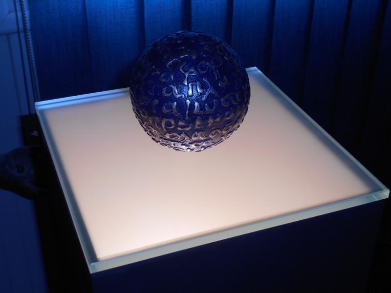 s. kotsireas - love poem - bronze with patina - 13cm diameter