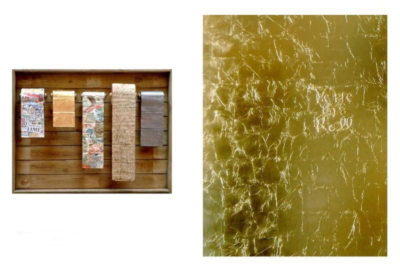 S. Kotsireas - WE ARE ON A ROLL (Diptych) - Mixed media - 82X104X10cm left,  152,5X122cm right