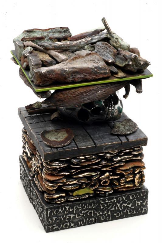 S. Kotsireas – GEOLOGICAL COLUMN What Lies Beneath the Unknown – Bronze, 50X28X28cm, 55kg