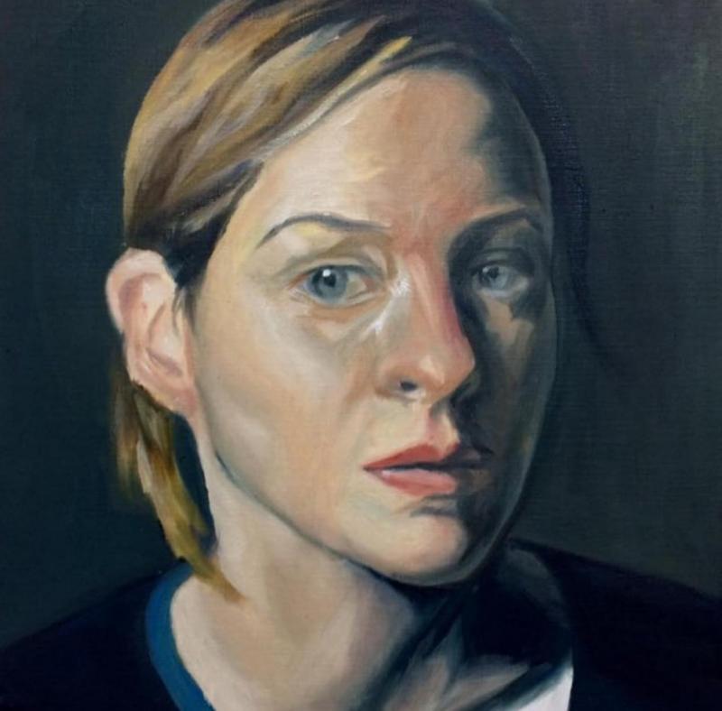 Saliha Bilge, Portrait, oil on canvas, 100x80 cm, 2019