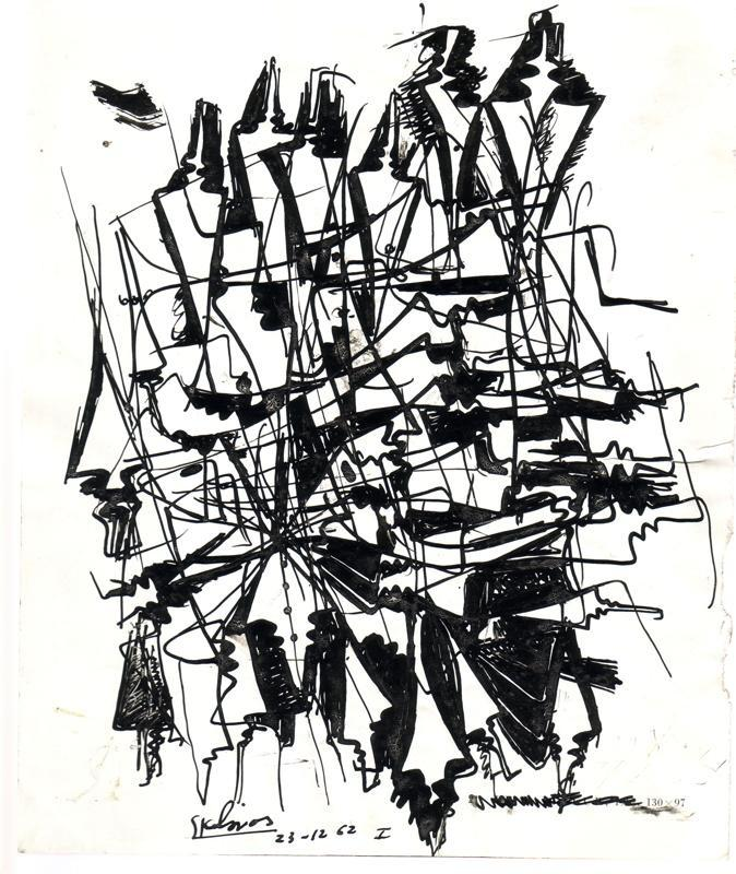 Sklavos Yerasimos, Chaos, 1960, Ink on Paper, 73.5x52.5 cm  14