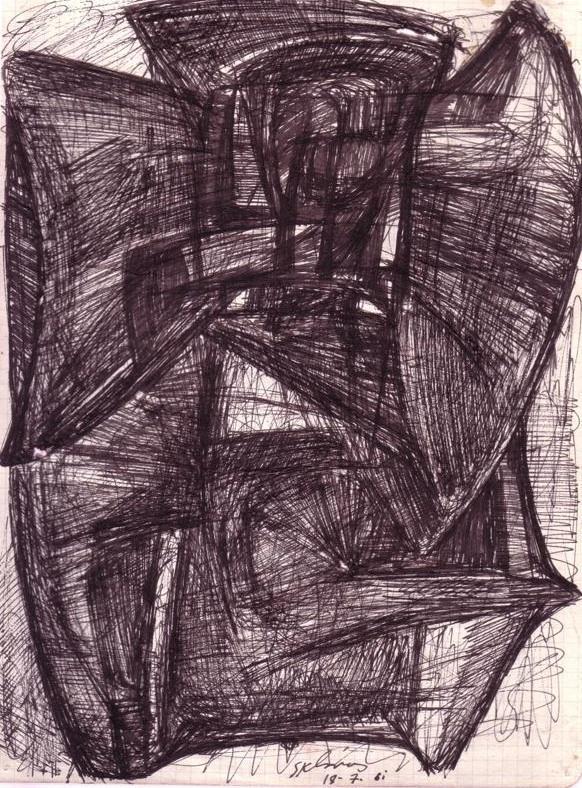 Sklavos Yerasimos, Untitled, Drawing, 1961