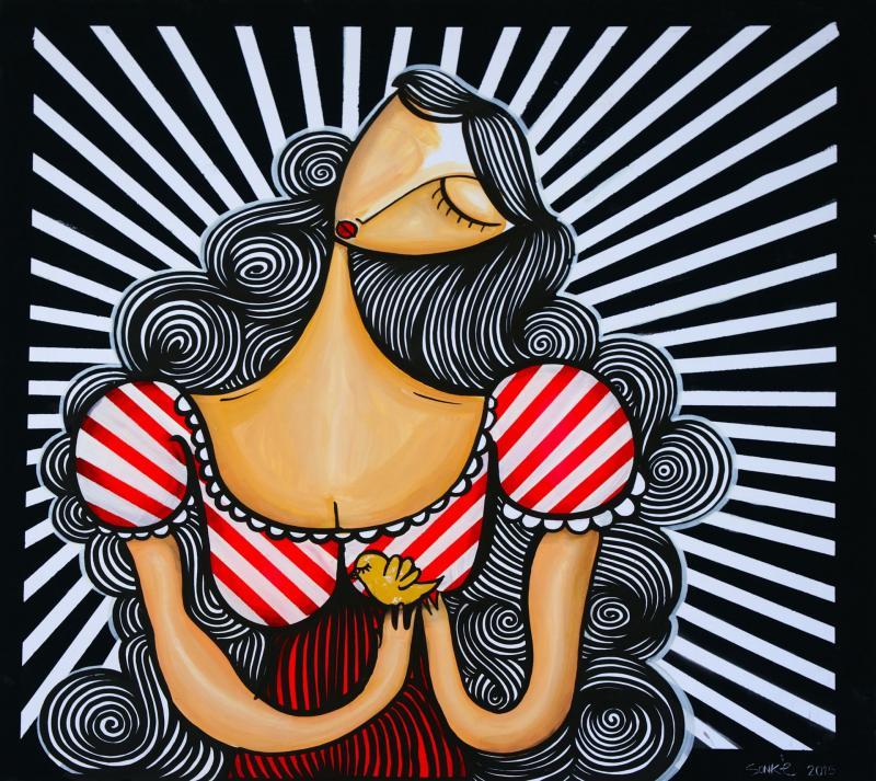 SONKE, 2015, Mixed Media on Canvas, 100x100cm