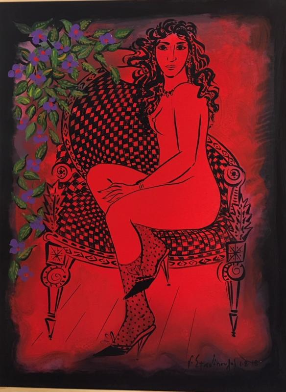 Stathopoulos, untitled, acrylic, 100 x 80 cm