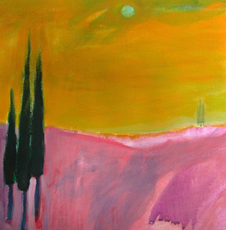 Stavros Kotsireas,Morning Glory II,Acrylic on canvas paper, 30x30 cm,2019