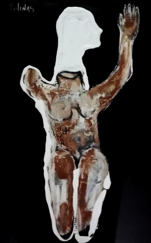 Stefanos  Folinas | Dyptich | Deisis 1 | 150x100 cm | mixed media on canvas