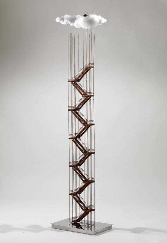 Stelios Gavalas,Untitled,Iron and Acrylic,260x0.40x0.25 cm