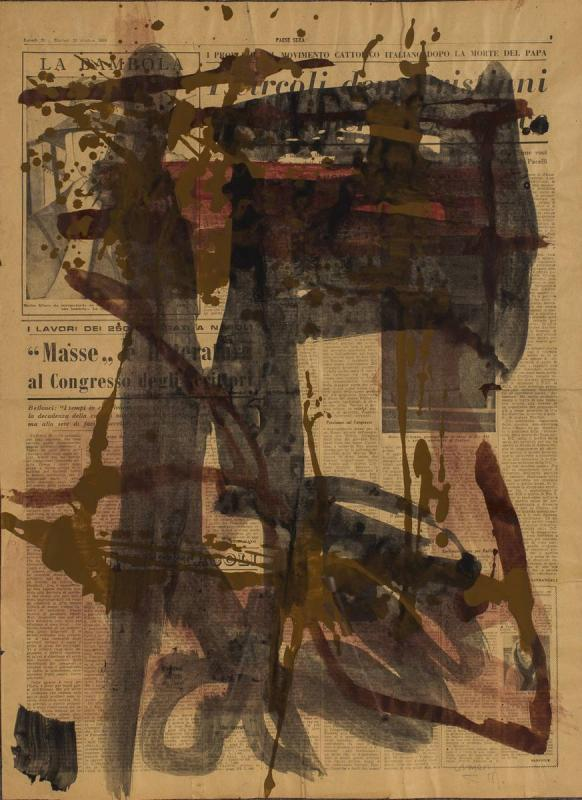 Vlassis Caniaris,Untitled, 1958, Mixed Media, 59 x 42,7 cm