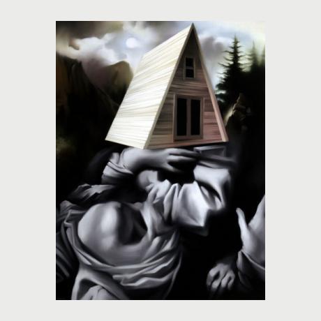 1. Avramidis Vasilis, Showroom, oil on canvas, 60x45cm, 2020