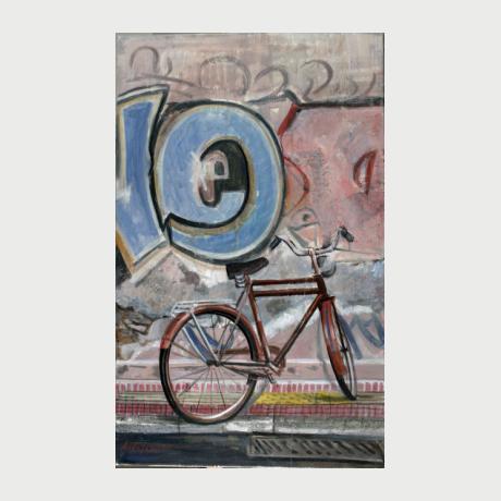Aivazoglou Achileas, grafite, 2015, oil on canvas, 100x70cm