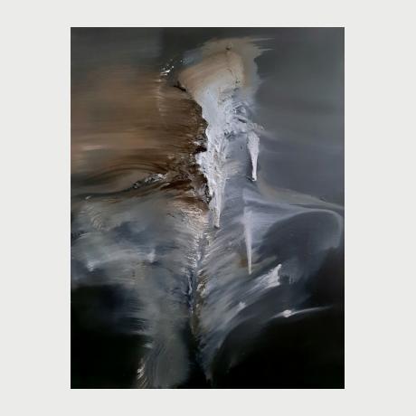 Antonis Giakoumakis_Figure_oil & clay on canvas_80χ60cm_2012