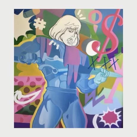 Ata Berenjian,Enough is Enough,130x120 cm, Acrylic on Canvas