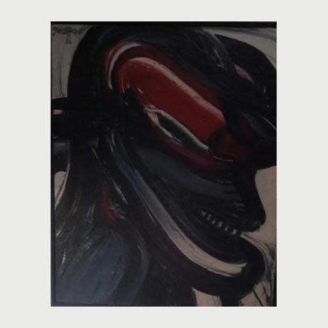 Christoforou John, Face, 2000, Oil on Canvas, 70x50 cm