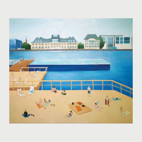 Chrysa Panagiotidou - The Yard - Oil On Canvas 180 X 155 Cm