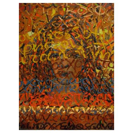 Costas EVANGELATOS ''Nomengraphical Portrait'' (50x60)cm, Oil on masonite, 2008